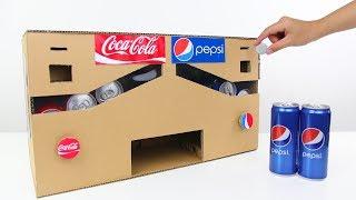How to Make Pepsi Coca Cola Vending Machine from Cardboard