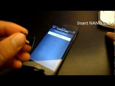 T-Mobile nano sim activation for Unlocked iPhone 5