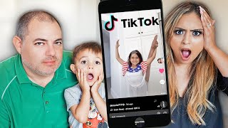 REACTING TO OUR 7 YEAR OLD'S TIKTOKS! *SHOCKING*