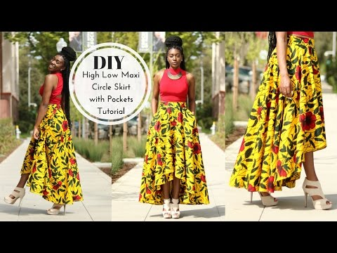 How to | DIY High Low Maxi Circle Skirt Tutorial | Part 1