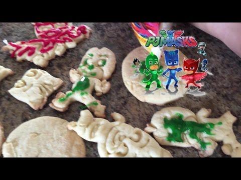 PJ Masks Sugar Cookies Icing Kids Brooke and Azlynn Show