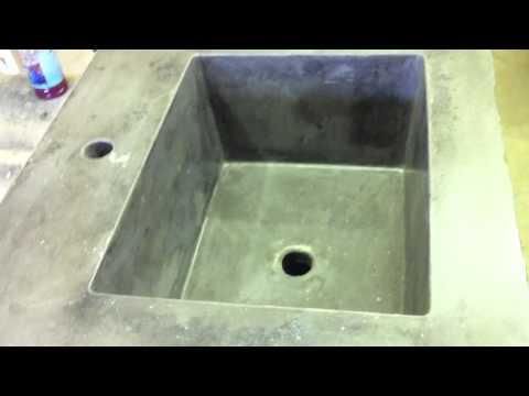 Concrete Countertop Integral Rectangle Sink Mold