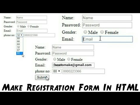 How To Make Registration Form In HTML