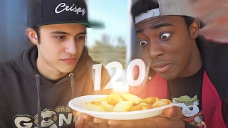 EATING 120 PIZZA ROLLS CHALLENGE!!