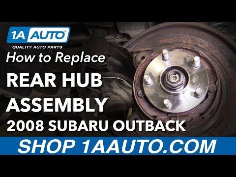 How to Replace Rear Wheel Hub Assembly 04-09 Subaru Outback