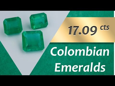 Colombian Emeralds. 17.09 Carats Natural Colombian Emeralds