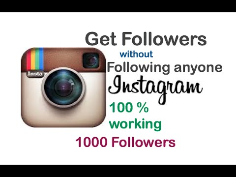 How To Get Instagram Followers WITHOUT Following others insta follower trick 2016