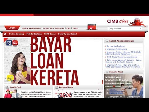 Bayar Loan Kereta Ambank finance Guna Cimbclicks