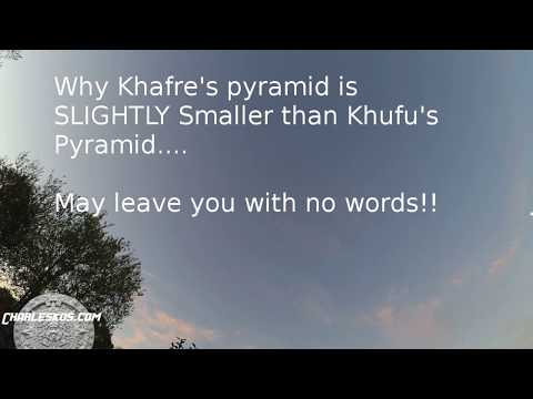 Why Khafre's Pyramid is smaller, may leave you with no words!