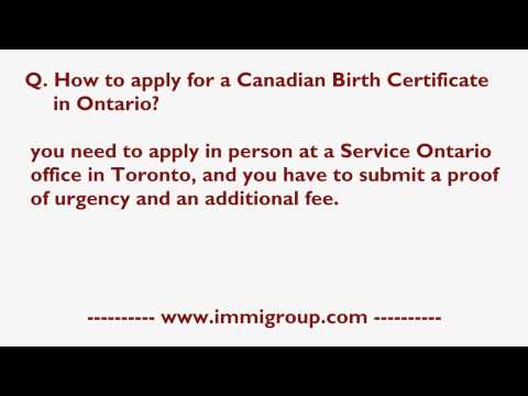 How To Apply For A Canadian Birth Certificate In Ontario?
