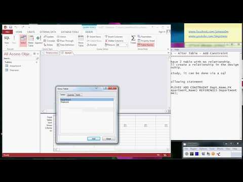 MS Access- SQL - Alter Table - Add Constraint and Relationship