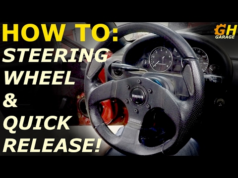 Steering Wheel & Quick Release Install | Melody Miata Build #5