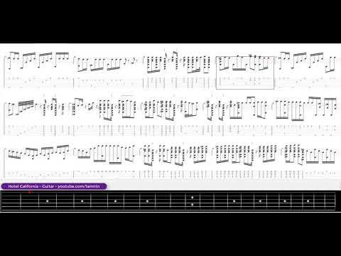 Hotel California - Guitar tab - Tập đánh guitar