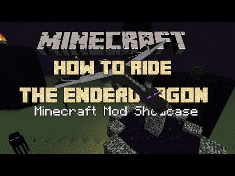 RIDE ENDER DRAGONS! Minecraft Mod Showcase with Grizz