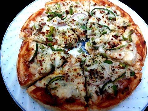 Veg Pizza   Pizza Recipe   Veg Pizza Microwave Grill    Onion Capsicum Pizza Recipe