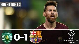 Sporting Lisbon Vs Barcelona 0-1   All Goals & Extended Highlights - Resumen y Goles 27/09/2017