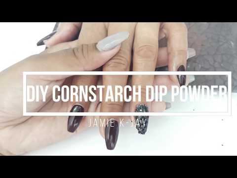 UPDATED: DIY CORNSTARCH Dip powder nails [[stays longer&stronger]]