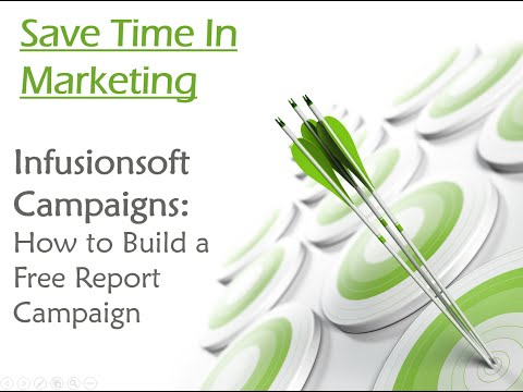 Infusionsoft Campaign Builder: How to Build Free Report Campaign (In Less than 6Mins)