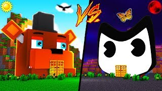 Minecraft - FNAF FREDDY house vs BENDY house