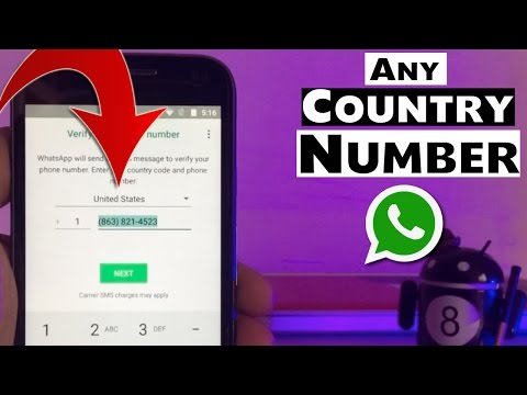 Activate WhatsApp With Any Country's Number