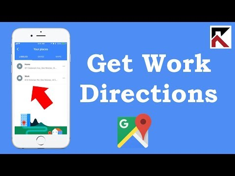 How To Get Directions To Work Google Maps iPhone