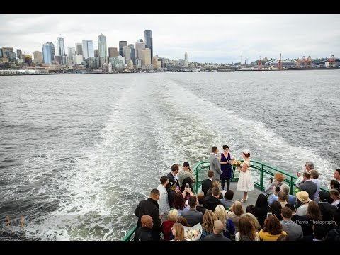 Seattle Ferry Wedding   Crystal and Zack