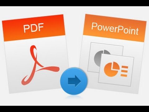How to convert pdf to ppt file