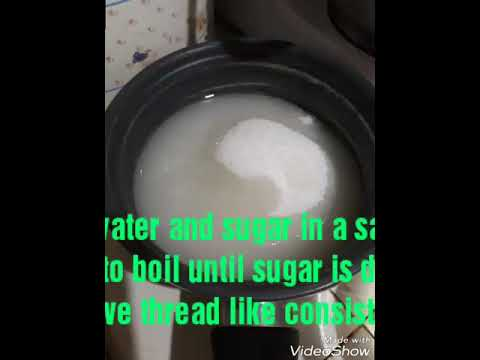 How to make boiled icing