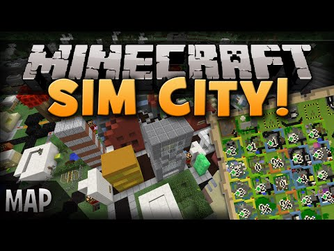 Minecraft: SIM CITY! Build A Town, Relationships, Mayor!   Simburbia