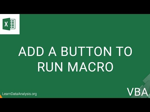 How To Create a Form Control Button To Call a Macro in Excel