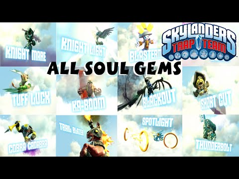 Skylanders Trap Team All Soul Gem Previews 1080P 60 fps