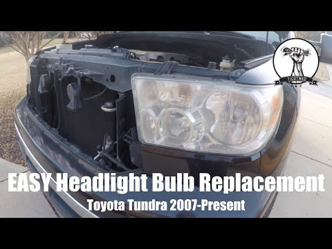 EASY Headlight Bulb Replacement - Toyota Tundra