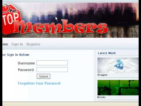 Create Your Own PHP Members Area Website Intro