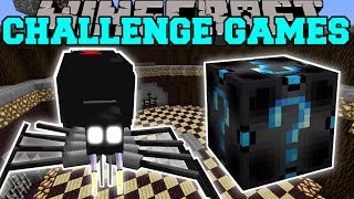 Minecraft: BLACK WIDOW SPIDER CHALLENGE GAMES - Lucky Block Mod - Modded Mini-Game