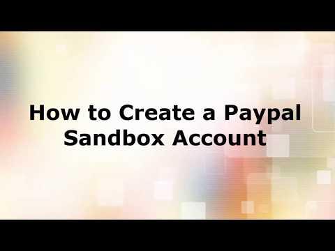 How to create a Paypal Sandbox Account!