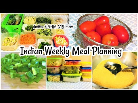 Indian Weekly Meal Planning || Pre-Preparations|| How to store vegetables in Fridge /Indian NRI Mom