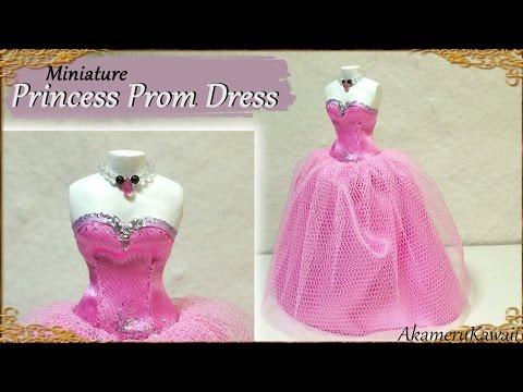 Miniature Prom Dress for Dolls - Fabric Tutorial