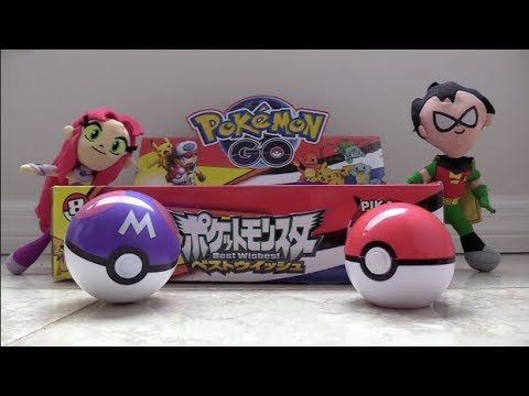Teen Titans Go! Robin and Starfire check out Pokemon Go! Poke Balls