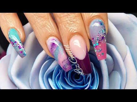 Acrylic Nails | Colour Changing Nails