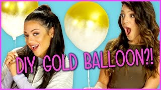 DIY Gold Dipped Balloons?! | Niki And Gabi DIY or DI-Don