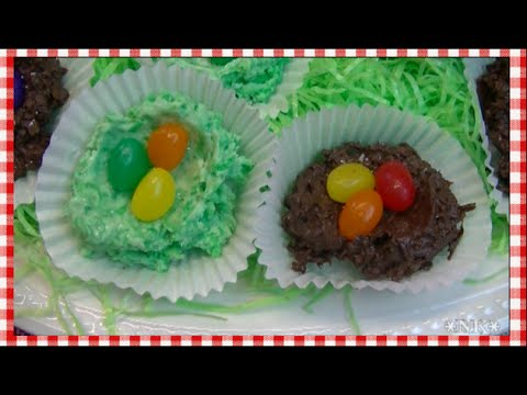Chocolate Coconut Easter Birds Nests ~ Noreen's Kitchen