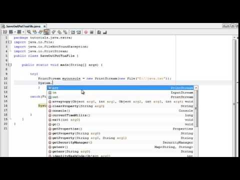 Save Console output into a file using java