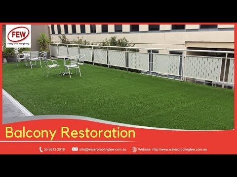 Balcony Restoration Melbourne - Stop Leaking Balconies - Using Artificial Grass