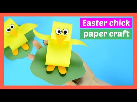 Construction Paper Chick Easter Craft for Kids