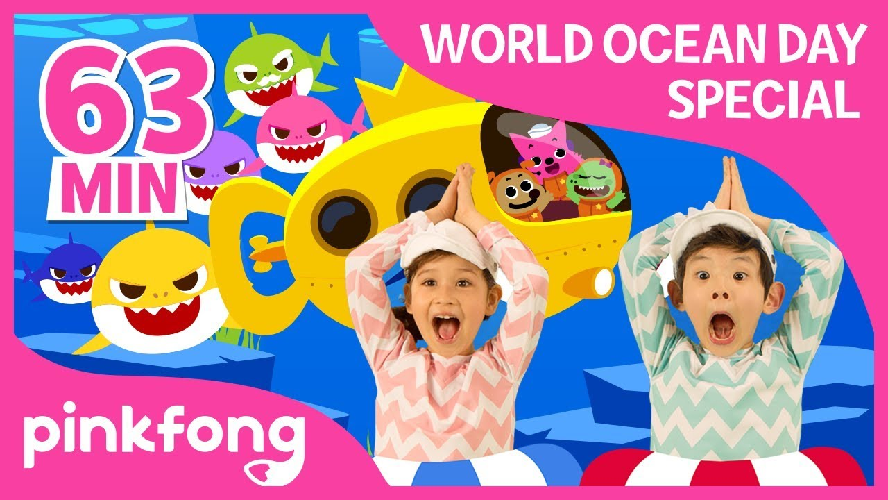 Baby Shark Dance and more | World Oceans Day | +Compilation | Pinkfong Songs for Children