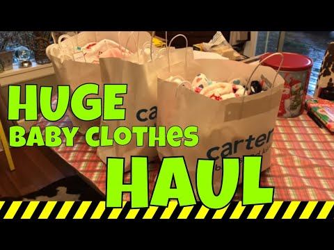 HUGE baby clothes HAUL!