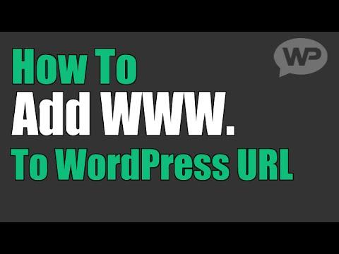How To Add WWW. to WordPress URL (Add or Remove WWW.)