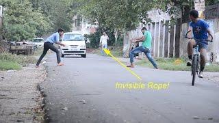 Funny Pranks - Invisible Rope Prank | Prashant Sharma