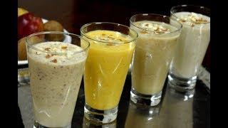 4 MilkShake Recipes without ice cream | Easy Milkshakes for summer  | 4 best milkshake recipes