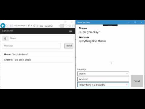 Real-time multi-language chat with Microsoft Translator Service and SignalR